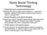 some social thinking terminology