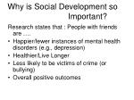 why is social development so important