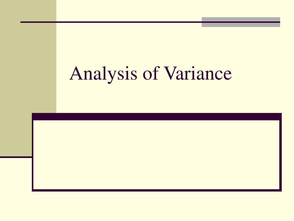 analysis of variance l.