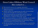 great lakes offshore wind council also tasked to