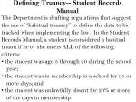 defining truancy student records manual