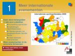 meer internationale evenementen