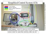 simplified control system cs