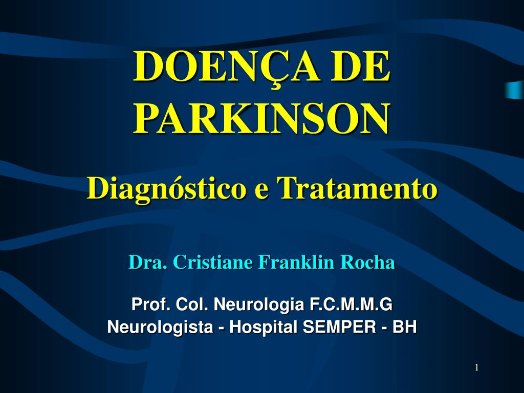 doen a de parkinson diagn stico e tratamento l.