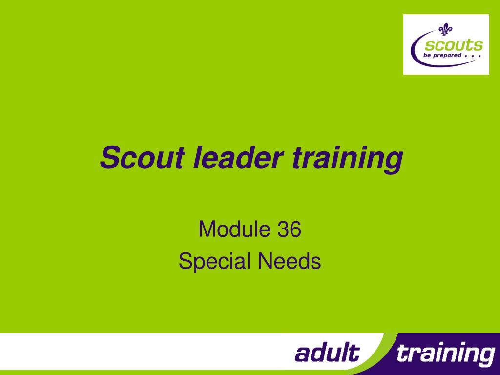 scout leader training l.
