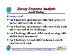 survey response analysis overall findings
