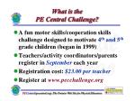 what is the pe central challenge