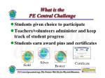 what is the pe central challenge3