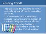 reading triads