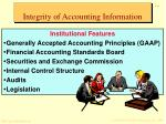 integrity of accounting information