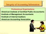 integrity of accounting information17