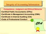 integrity of accounting information18