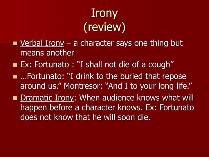 Irony review