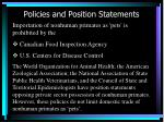 policies and position statements