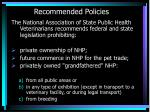 recommended policies