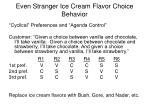 even stranger ice cream flavor choice behavior