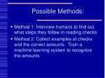 possible methods