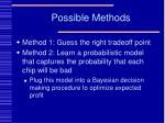 possible methods8