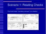scenario 1 reading checks
