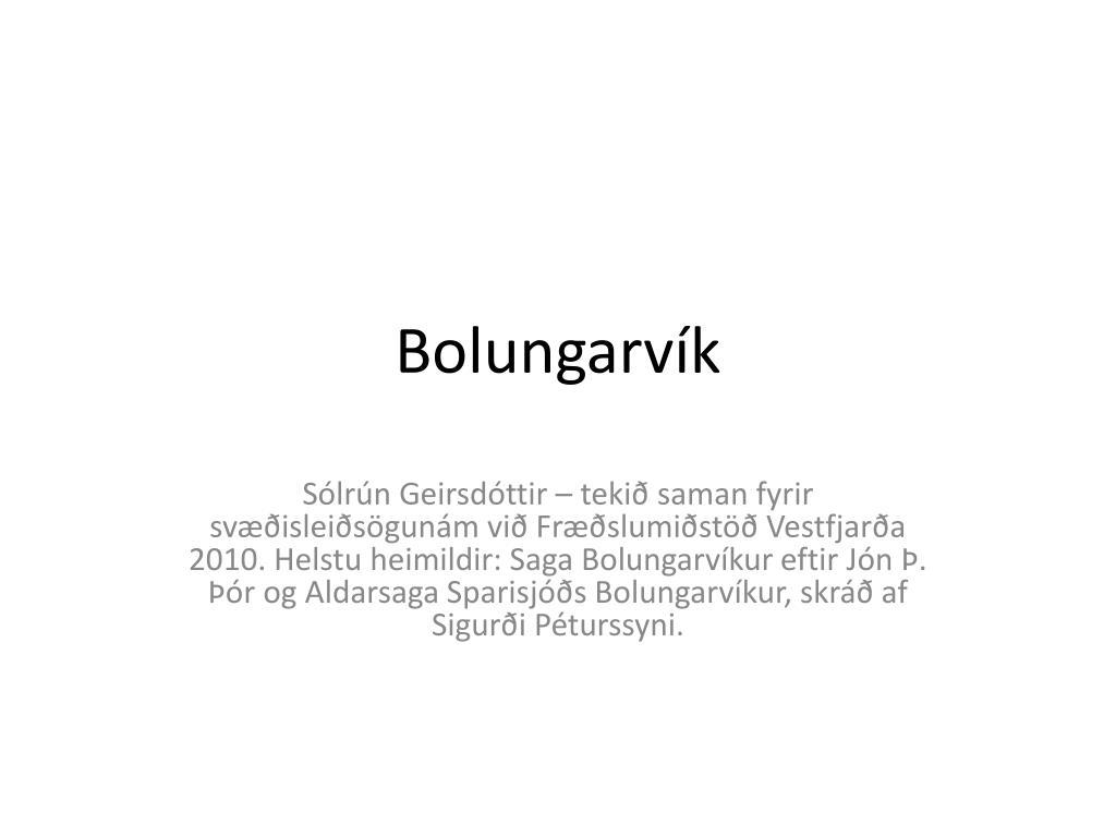 bolungarv k l.