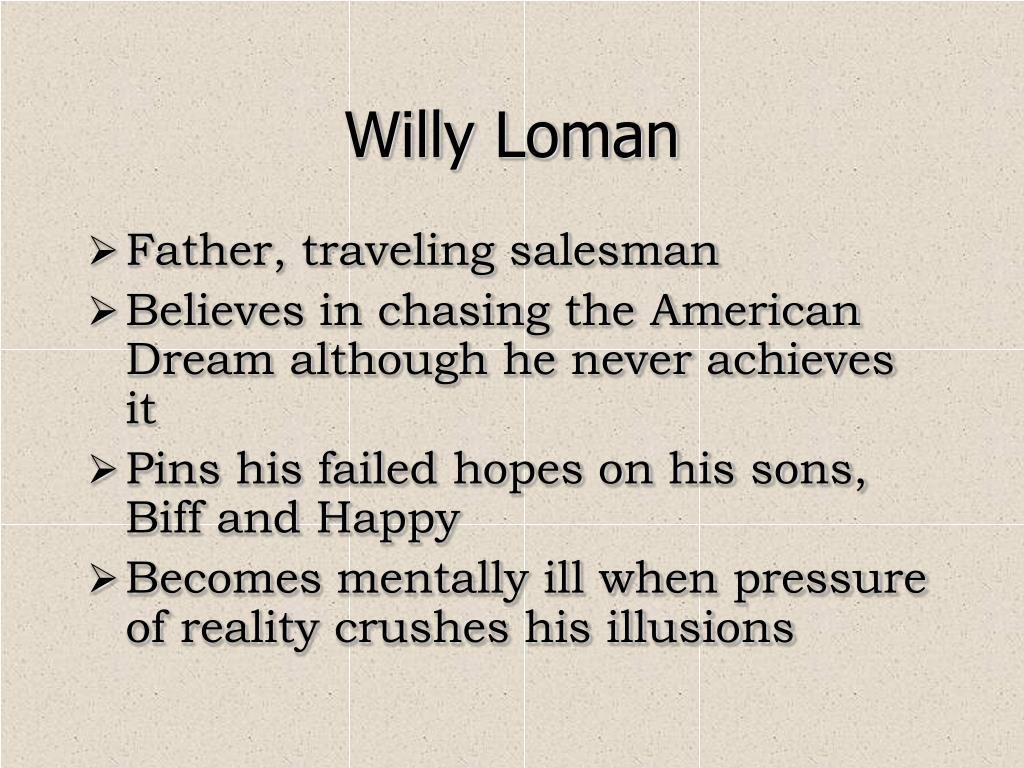 death of a salesman willy lomans Everything you ever wanted to know about willy loman in death of a salesman, written by masters of this stuff just for you.