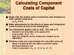 calculating component costs of capital