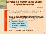 developing market value based capital structures example 13 212