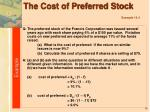 the cost of preferred stock example 13 4