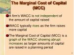 the marginal cost of capital mcc