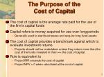 the purpose of the cost of capital