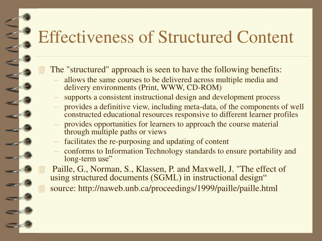 Effectiveness of Structured Content
