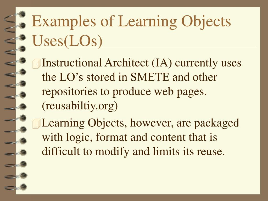 Examples of Learning Objects Uses(LOs)
