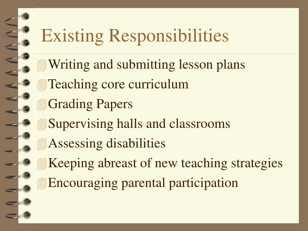 Existing Responsibilities