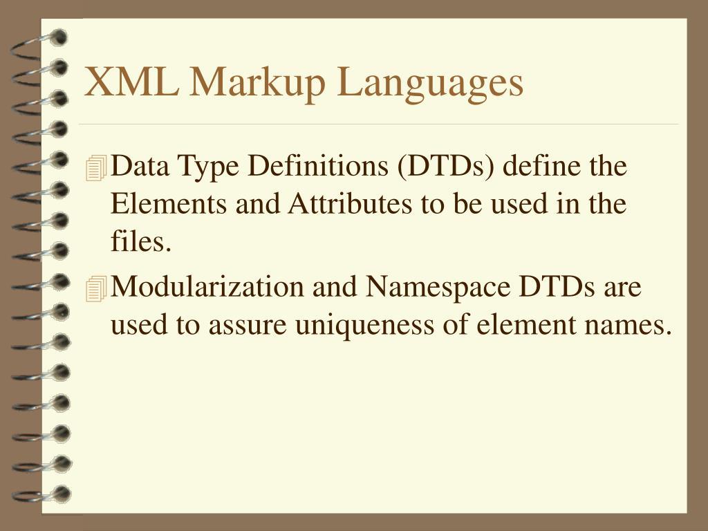 XML Markup Languages