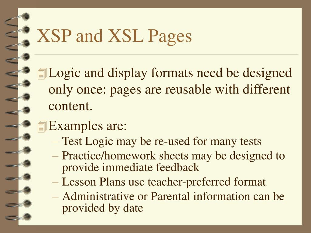 XSP and XSL Pages