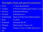 examples from advanced economies