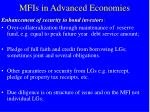 mfis in advanced economies
