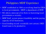 philippines mdf experience
