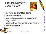 forgangsverkefni 2005 2007