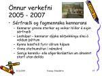 nnur verkefni 2005 200717