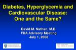 diabetes hyperglycemia and cardiovascular disease one and the same