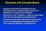 glycemia and complications