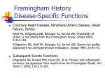 framingham history disease specific functions