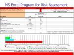 ms excel program for risk assessment