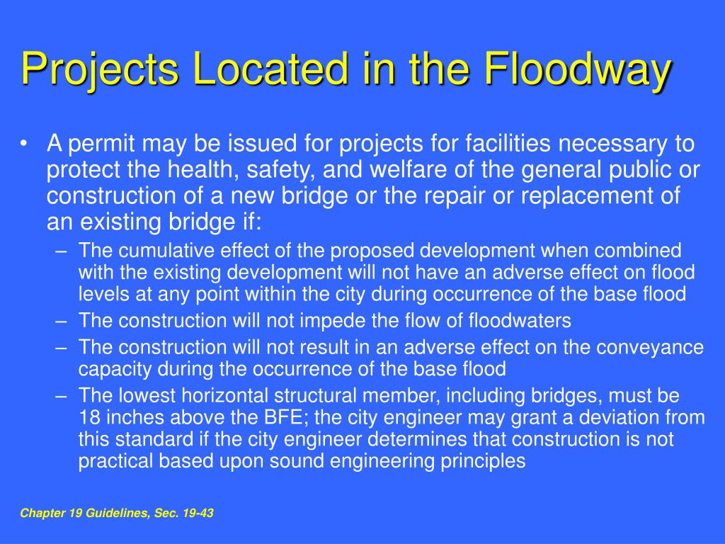 Projects Located in the Floodway