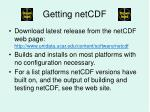 getting netcdf