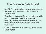the common data model