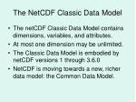 the netcdf classic data model