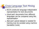 cross language text mining