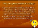 why are quotes needed in writing